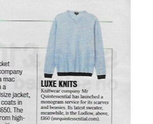 Ludlow v neck as seen in the Times MrQuintessential