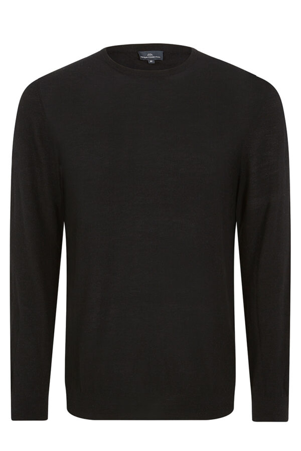 CONNERY - Black crew neck MrQuintessential