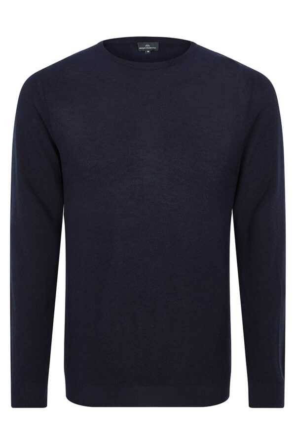 CONNERY - Navy crew neck MrQuintessential