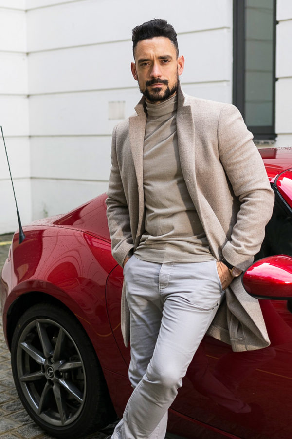 Cashmere and Silk Blend Rollneck Sweater