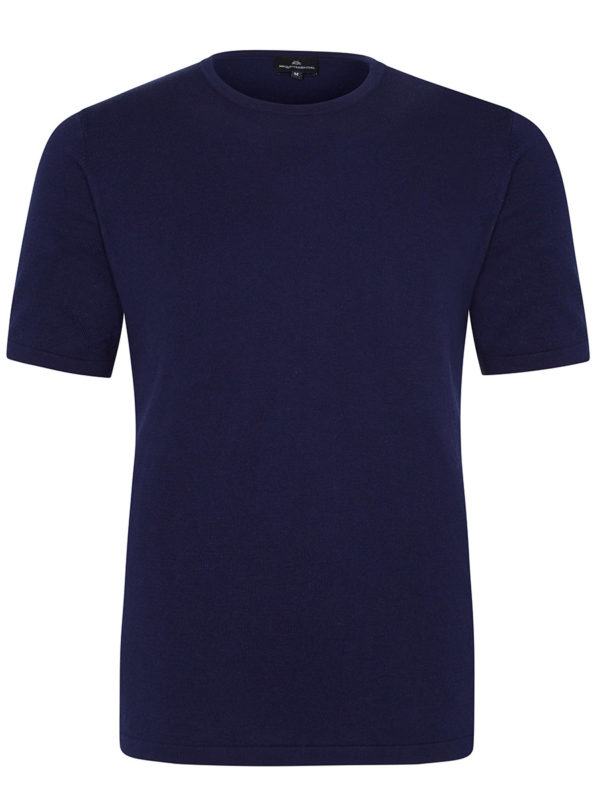 Ark -  Cotton Cashmere T Shirt - Admiral Blue MrQuintessential
