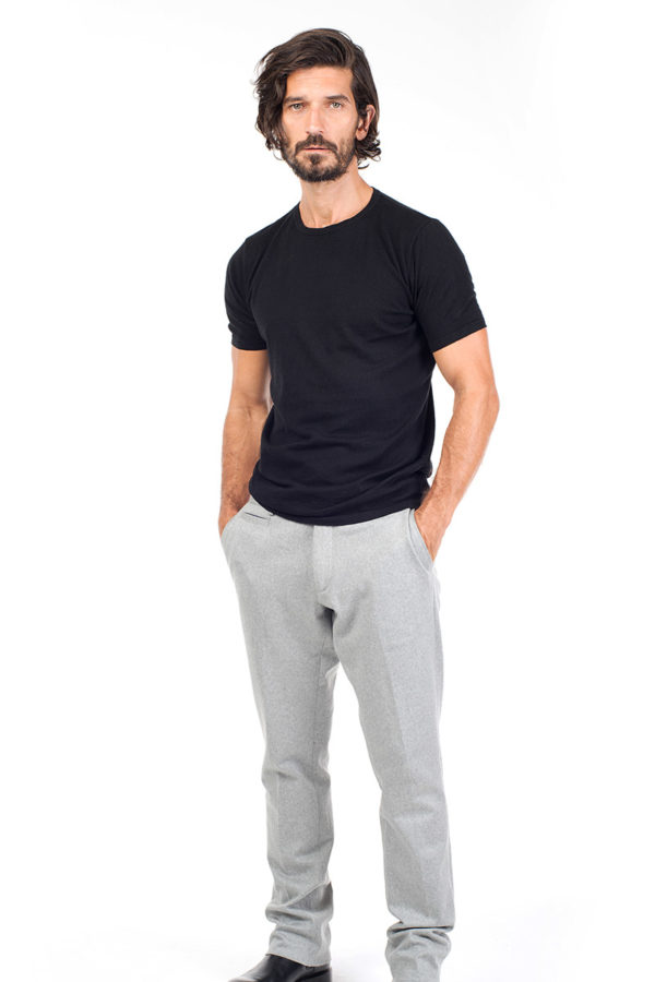 Ark Cotton & Cashmere T Shirt - Black MrQuintessential