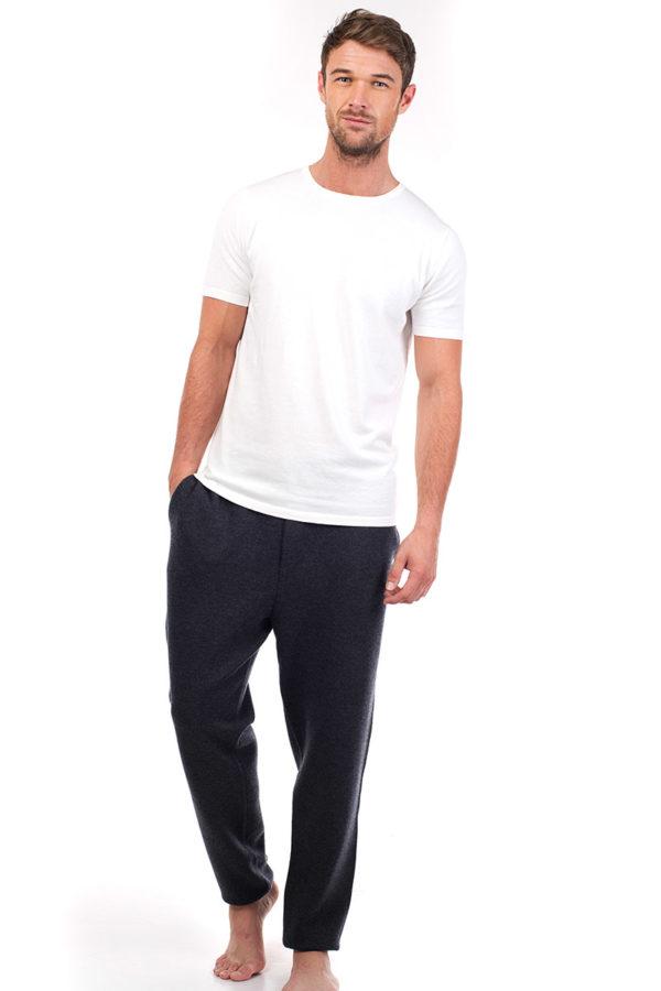Ark Short Sleeve Cotton Cashmere T- White MrQuintessential