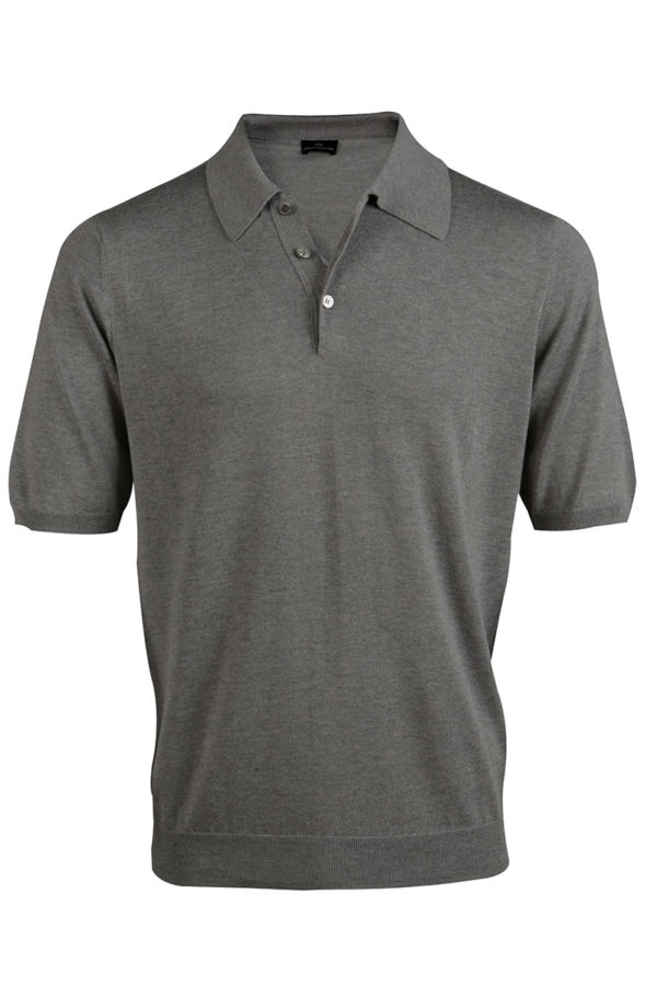 Shoal Silk Blend Polo Shirt - Birch Grey MrQuintessential