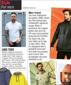 Luxe T-Shirt - featured in The Times MrQuintessential