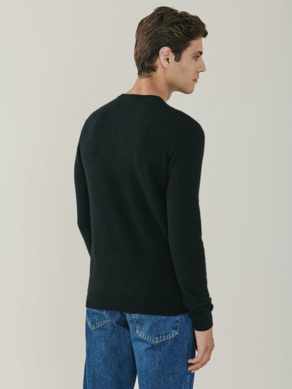 Canyon Cashmere Crew Neck Sweater - Black