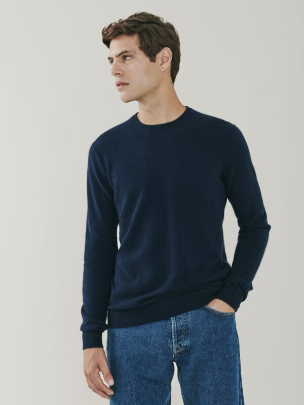 Canyon Cashmere Crew Neck Sweater - Navy