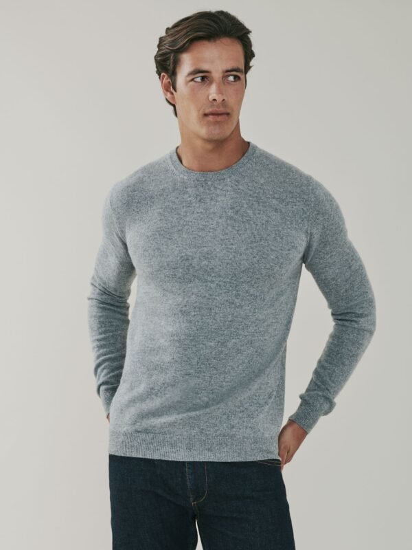 Canyon Cashmere Crew Neck Sweater - Birch Grey