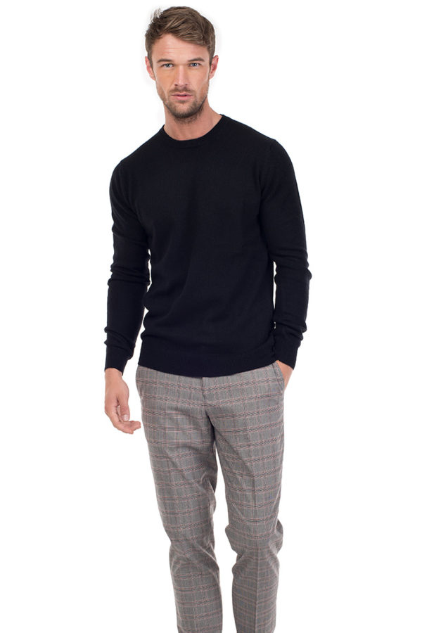 Canyon Cashmere Crew Neck Sweater - Ebony MrQuintessential