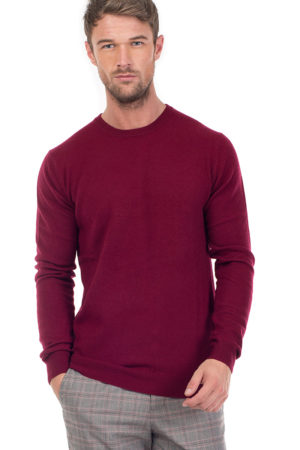 Canyon Cashmere Crew Neck Sweater - Claret MrQuintessential