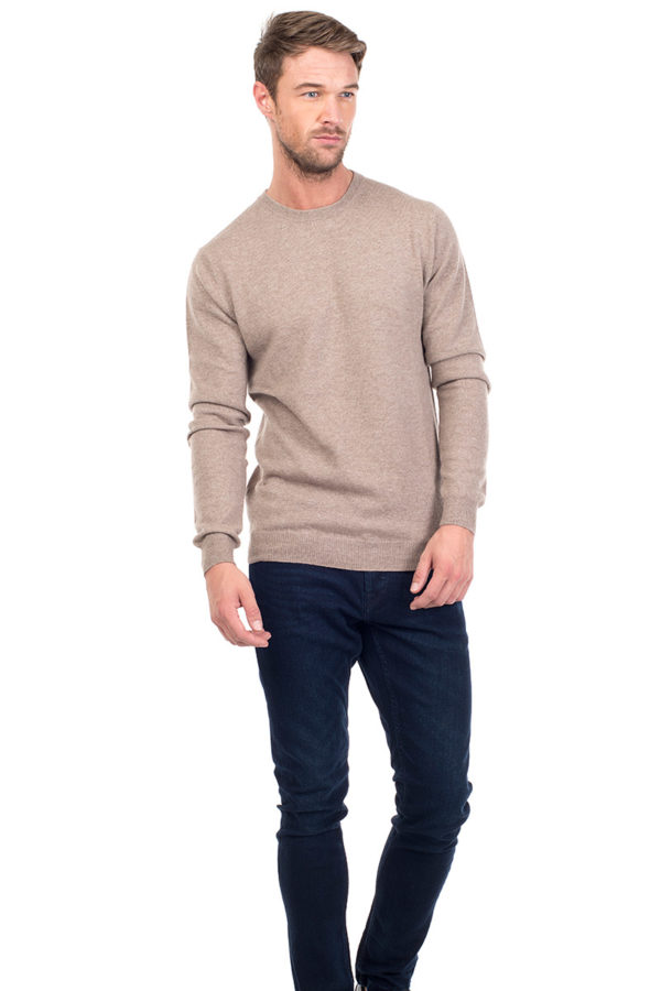 Canyon Cashmere Crew Neck Sweater - Beige MrQuintessential