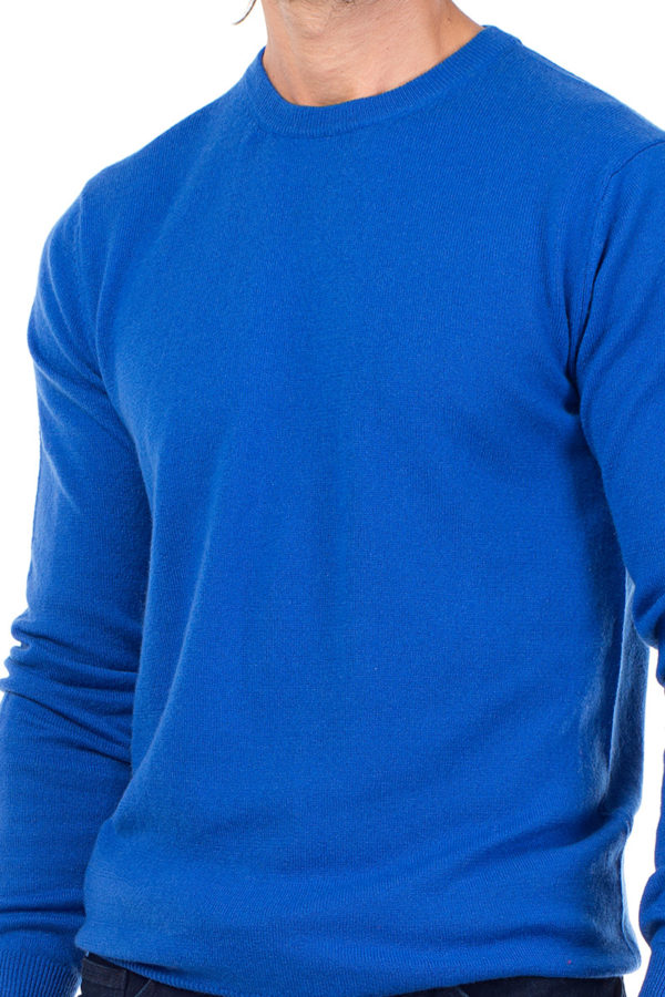Canyon Cashmere Crew Neck Sweater Azure Blue MrQuintessential