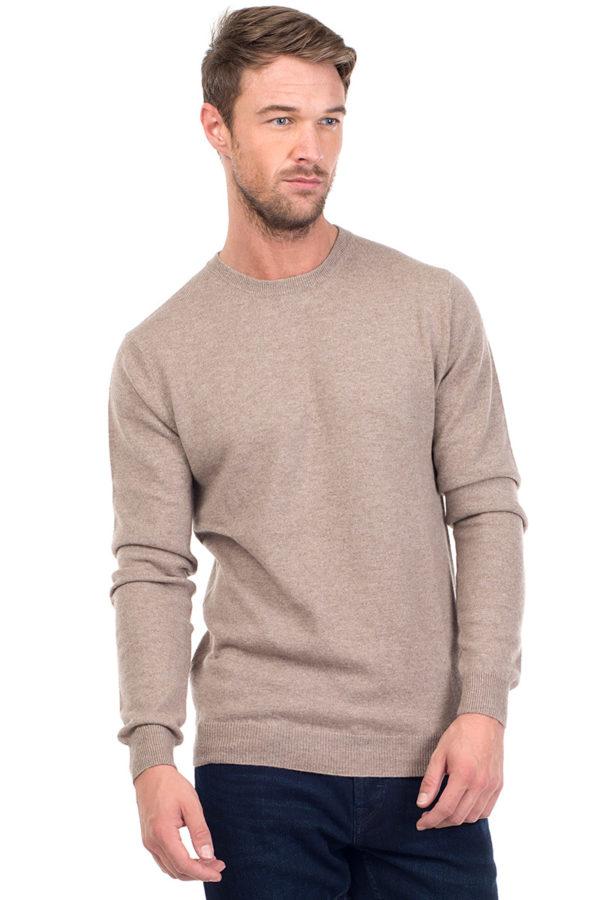 Canyon Cashmere Crew Neck Sweater Beige MrQuintessential