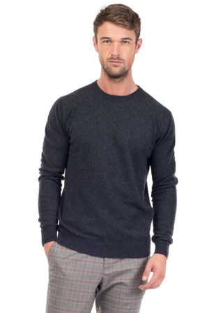 Canyon Cashmere Crew Neck Sweater - Charcoal MrQuintessential