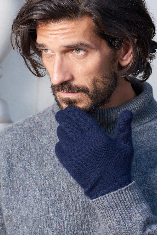 Alpine Cashmere Gloves - Navy MrQuintessential