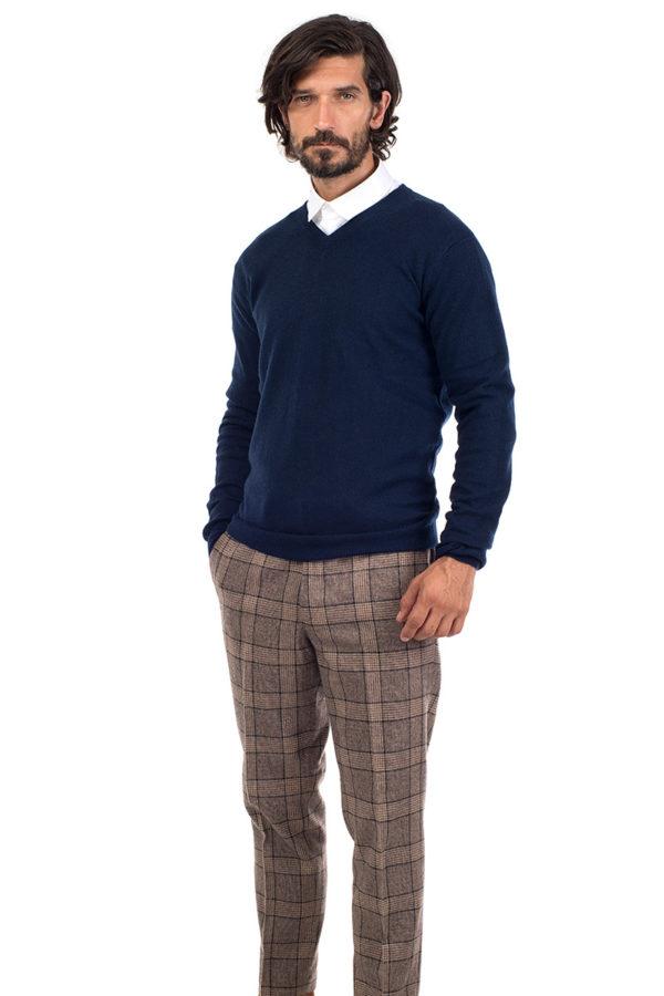 Killington Cashmere V Neck Sweater - Navy MrQuintessential