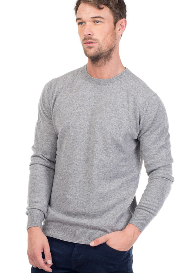 Canyon Cashmere Crew Neck Sweater - Heather Grey MrQuintessential