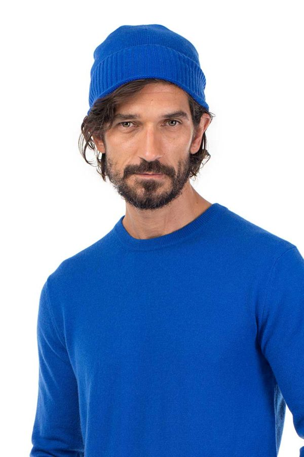 Powder -  Cashmere Beanie In Azure Blue  SOLD OUT MrQuintessential