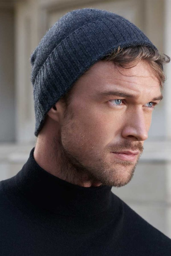 Powder - Cashmere Beanie In Graphite Grey SOLD OUT MrQuintessential