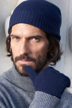 Powder -  Cashmere Beanie In Dark Navy SOLD OUT - One Size MrQuintessential
