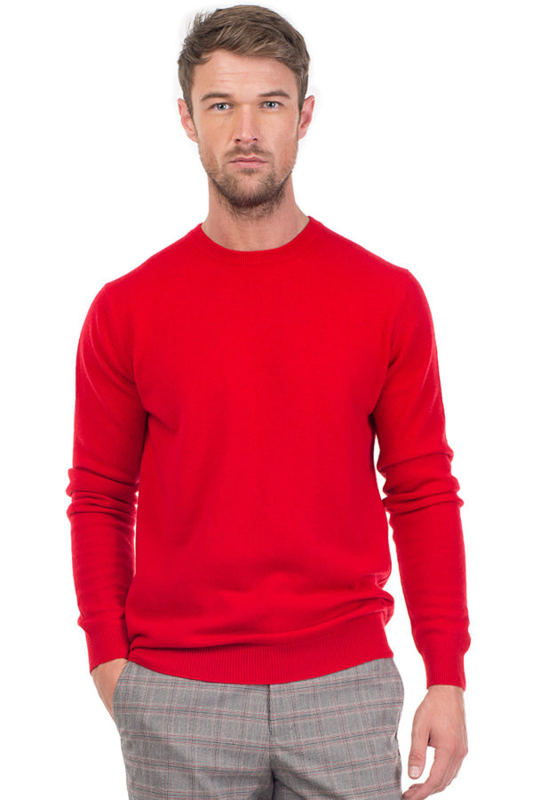 Canyon Cashmere Crew Neck Sweater - Red MrQuintessential