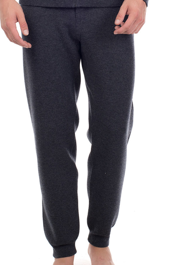 Squaw Cashmere Blend Sweat Pants - Melange Grey MrQuintessential