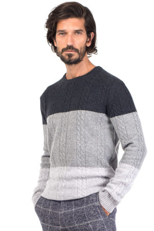 Vail - Tonal Cashmere Cable Knit Crew Neck Sweater MrQuintessential