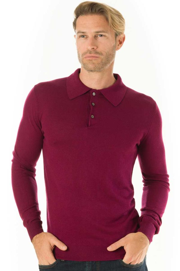 Silk and Cashmere blend polo shirt