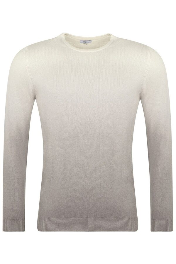 Reed Crew Neck Ivory & Grey Dip Dyed Sweater