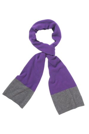 Donnington Scarf In Rich Purple And Charcoal Grey